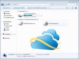 Bild: Die Online-Festplatte SkyDrive kann als Netzlaufwerk im Windows Explorer eingebunden werden.