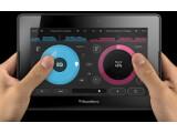 Bild: Die Pacemaker-App macht das Playbook zum DJ-Pult.