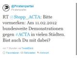 Bild: Proteste gegen ACTA - bald auch in Deutschland? Der 11.02. kursiert im Netz als mögliches Datum.