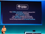 Bild: RIMs Alec Saunders präsentierte die Entwicklung des BlackBerry-Ökosystems.