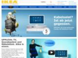 Bild: Das schwedische Möbelhaus Ikea verkauft seit Montag seine TV-Möbelkombination Uppleva in Deutschland.