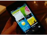 Bild: Der Startbildschirm von BlackBerry 10.