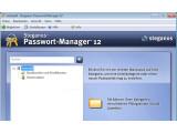 Bild: Der Steganos Passwort-Manager dient als zentrale Sammelstelle für Zugangsdaten.