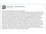 Bild: Der Stein des Anstoßes: Facabook-Eintrag einer Vodafone-Kundin.