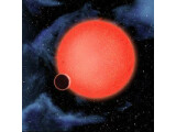Bild: Die Supererde GJ 1214b dargestellt von einem Künstler.