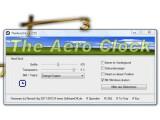 Bild: The Aero Clock blendet eine schöne Uhr auf dem Windows-Desktop ein.