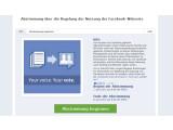Bild: Typisch Facebook: Kaum ein Mitglied weiß von der Abstimmung oder wo sie stattfindet. (Bild: Screenshot