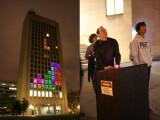 Bild: Das MIT zauberte eine spielbare Version von Tetris an eines ihrer Gebäude.