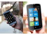 Bild: Das ZTE PF112 läuft mit Android 4.0 (links), während beim Orbit Windows Phone 7 zum Einsatz kommt.