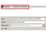 Bild: 105321 Bild_01: Das Favicon von netzwelt.de in der Lesezeichenverwaltung von Firefox.