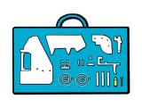 Bild: Kunststoffwaffen aus dem Drucker, als Bedrohung für Sicherheit im Flieger.