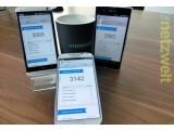 Bild: Das Android-Spitzentrio HTC One (links), Samsung Galaxy S4 (Mitte) und Sony Xperia Z (rechts) messen sich in diversen Benchmarktests.