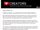 Bild: Die Ankündigung findet sich nur im US-Blog von YouTube.