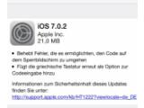 Bild: Apple stellt iOS 7.0.2 bereit und schließt damit eine Sicherheitslücke.