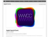 Bild: Apple zeigt die WWDC-Keynote live via Safari und Apple TV.