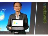 Bild: Asus-Chef Johnny Shih präsentierte auf der Computex das neue Transformer Book Trio.
