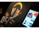 Bild: Im Berliner Cafe Moskau stellte Sarah Hecht, Produktmanagerin Google Play Music, den neuen Streaming-Service vor.