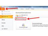 Bild: Bild 1: Einrichtungsassistenten in Outlook starten.