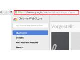 Bild: Bild 1: Google Chrome Webstore aufrufen.