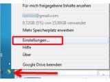 Bild: Bild 1: Google Drive Einstellungen öffnen.