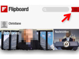 Bild: Bild 1: Menü vom Flipboard öffnen.