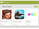 Bild: Bild 1: Startbildschirm Google Play Games.