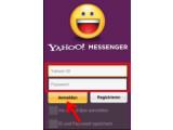 Bild: Bild 1: Im Yahoo! Messenger anmelden.