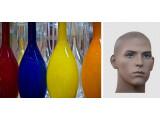 Bild: Das Bild von den Flaschen und der freigestellte Kopf sind die Grundlage für eine Montage.