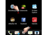 Bild: Bild1: Android Einstellungen öffnen.