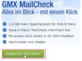 Bild: Bild1: MailCheck kostenlos aktivieren.