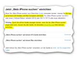 Bild: Bild6: Hinweis der iCloud-Hilfe für Einrichtung mehrerer Geräte.