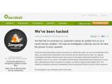 Bild: In einem Blogeintrag weist Zendesk auf die Attacke hin.
