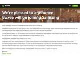 Bild: Boxee teilte die Übernahme durch Samsung auf seiner Webseite mit.
