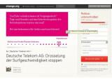 Bild: Change.org: Petition gegen Bandbreiten-Drosselung gestartet.