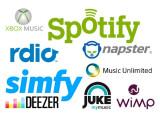 Bild: Deezer, Spotify, Simfy, Napster, Juke, Rdio, Xbox Music, Wimp und Music Unlimited gehören zu den getesteten Streaming-Diensten.