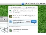 Bild: Dropbox aufgefrischt: Auf dem Desktop können Nutzer Freigaben direkt einsehen.