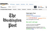 Bild: Die ehrwürdige Washington Post wechselt für die stolze Summe von 250.000.000 US-Dollar den Besitzer. Amazon-Chef Bezos zahlte aus seinem Privatvermögen.