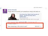 Bild: Einige Nutzer können Statusmeldungen bewerten.