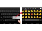 Bild: Emojis über die Tastatur aufrufen.