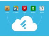 Bild: Die Feedly-Cloud: Apps wie Reeder nutzen künftig das Backend des Dienstes zur RSS-Synchronisierung.