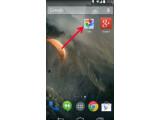 Bild: Fotos-App von Google+ auf dem Homescreen.