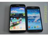 Bild: Gegen das Galaxy Mega (links) wirkt selbst das Galaxy Note II wie ein Winzling.