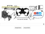 Bild: Google Doodle in Gedenken an den Schweizer Psychiater Hermann Rorschach.