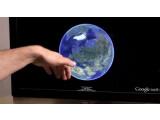 Bild: Google Earth lässt sich mithilfe von Leap Motion ohne Maus und Tastatur steuern.
