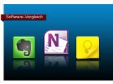 Bild: Google Keep, Evernote und OneNote im Vergleich.