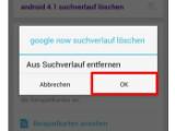 Bild: Google Now Suchverlauf löschen
