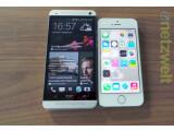 Bild: Das HTC One und das iPhone 5s haben viele Gemeinsamkeiten aber auch sehr viele Unterschiede.
