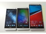 Bild: Das HTC One Mini (links) und das HTC One (Mitte) erhalten demnächst ein Update auf Android 4.3. Das One Max (rechts) wird bereits mit der aktuellen Android-Version ausgeliefert.