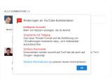 Bild: Diese Informationen bekommen alle YouTube Nutzer in den nächsten Tagen zu sehen.
