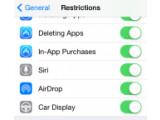 Bild: Unter iOS finden sich bereits Einstellungen für die aktive Einbindung in die Fahrzeug-Elektronik. Nun soll Android folgen.